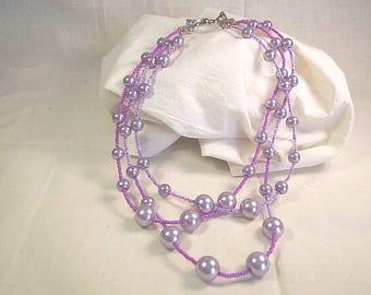 Purple Passion Trio Necklace