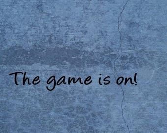 The game is on Sherlock Poster/Gift