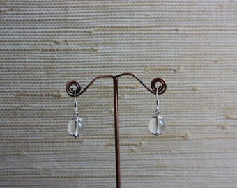 Rock crystal and 925 Sterling Silver earrings.