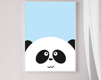 Panda Nursery Art , Panda Nursery Art Printable, Nursery Wall Art,  Panda Nursery Decor,  Nursery Art Animals , Nursery Prints Animal