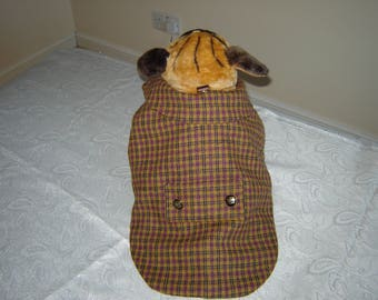 Winter Tweed Check Coat for Small/Med Dogs