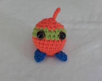 "Plush ""Ball mask"" orange, green and blue"