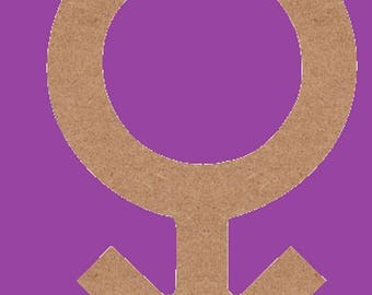 decorate in MDF, symbol men medium support
