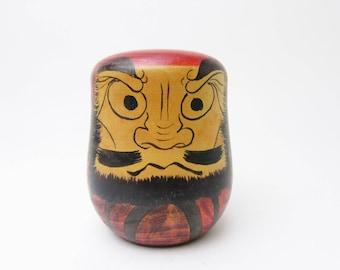 Vintage Toogatta Daruma Kokeshi.Ryousuke Saito.Japanese Folk Art.Wooden Daruma.94mm.#dr42