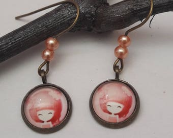 "Small EARRINGS model ""ROSY"""