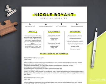 Resume Template, Resume Template Word, Teacher Resume Design, Instant Download Resume with Cover Letter, 3 page Resume, Modern Resume