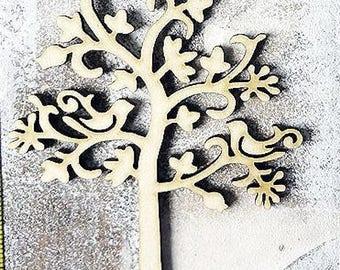 Tree 260 large model embellishment wooden creations