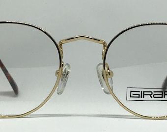 Girard Lunettes 6828 / Vintage Eyeglasses / Brand New / Unworn / Gold Eyeglasses