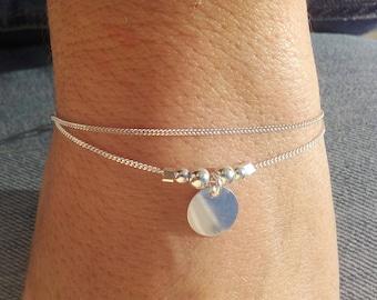 "Bracelet ""MILA"" 925 round Medal"