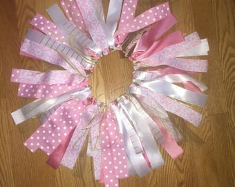 Ribbon Tutu, 1st Birthday Tutu, Pink Gold and White