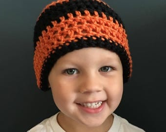 Crochet Sports Fan Beanie