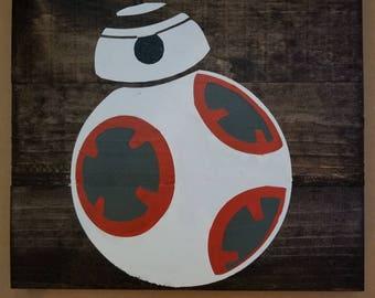 Star Wars BB8 wall art
