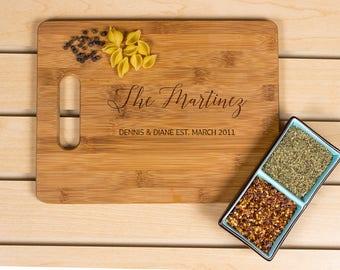 Personalized cutting board, Wedding Gift, Kitchen Decor,  Housewarming Gift, Family Name  Engraved Cutting Board, Chopping board