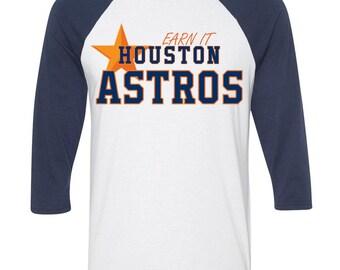 World Series Astros Shirt, Earn It Astros Shirt, Custom Houston Astros Baseball Shirt, Houston Astros, Postseason Astros, Astros Tank