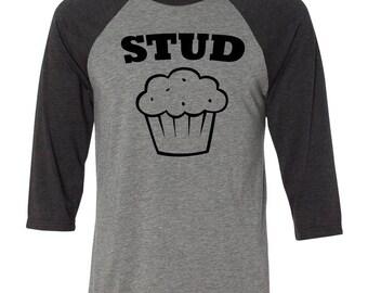 Stud Muffin Baseball Raglan, Guitar, Custom Valentines Day Gift, Gift for Him, Youth Valentines Day Shirt, Heart, Valentines