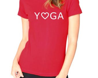 Yoga Love Organic Short Sleeve Sustainable & Eco-friendly Super Soft Fine Jersey Fitted T-Shirt Custom