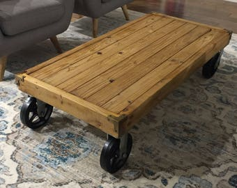 The Wheeled Creations Industrial Coffee Table