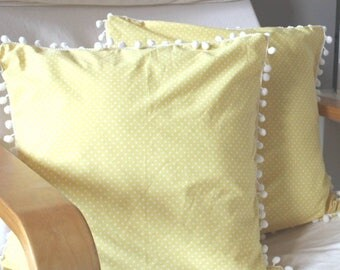 Cushion Cover In Yellow
