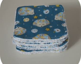 Cute hedgehogs cotton wash cloth