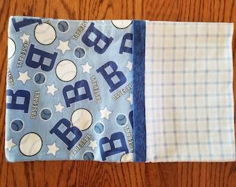 Flannel Pillowcase- Baseball