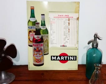 MARTINI bar pub vintage plate
