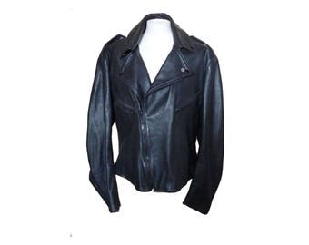 Cool Black Leather Biker Jacket