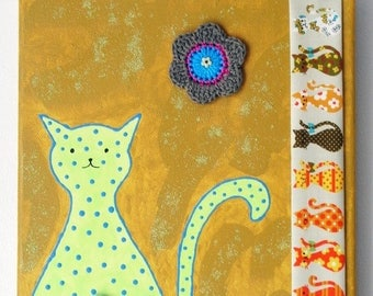 Colorful cats painting * 2 * ochre