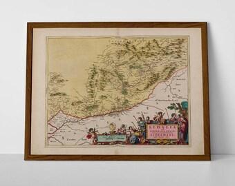 Liddesdale old map | Roxburghshire & Scottish Borders; Langholm, Teviothead, Garwald, Ettleton, Buccleuch, Scottish Borders Antique Map