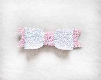 Valentine's Day pink and white bow
