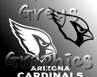Arizona Cardinals Primary Logo with Logotype Single Color - SVG - DXF - EPS - Vectors