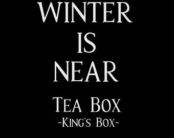 Winter is Near Magical Tea Box - gift box - Bookworm gift - Weihnachtsgeschenk - Advent - game of thrones christmas - loose leaf tea winter