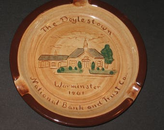 PENNSBURY POTTERY Ashtray Warminster 1961 - Doylestown Pa National Bank & Trust Co.