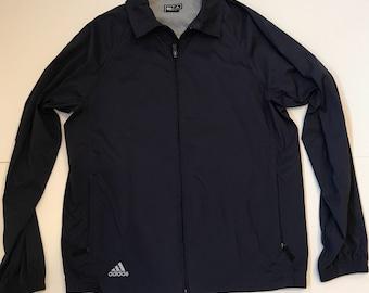 Vintage Style Adidas Zip Up Wind Breaker Jacket