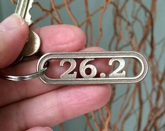 26.2 Marathon Runner gift, new years resolution marathon inspiration, Marathon running motivation, 26.2 marathon keychain, runner jewelry
