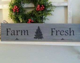 Rustic Farmhouse Style Wooden Farm Fresh Sign