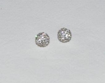 15 rhinestone Crystal 6 mm Grade A polymer clay beads