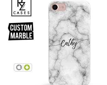 Marble Phone Case, Marble iPhone 7 Case, Personalized Gift for Her, iPhone 7 Plus Case, iPhone 6S Case, Personalized Gift, Custom Case, Gift
