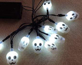 Pumpkin Lights, Fall Leaf Lights, Bat Lights, Skull Lights, Halloween Lights, Decorator Lights, LED Lights