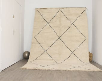 Free Shipping! 9.4'x 6.9' BENI OUARAIN Rug Handmade / Shaggy Rug / Moroccan Rug / Morrocan Carpet / Berber Rug