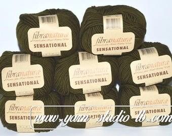 Yarn Knitting Fibra Natura Sensation Merino Lot of 8 Skeins
