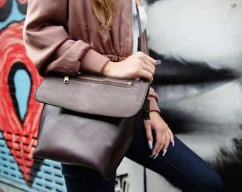 Crossbody Bag Women's Purse Women's Crossbody Bag Leather Crossbody Bag Full Grain Veg Tan Leather Crossbody Bag Gifts For Her
