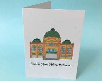 Flinders Street Station Melbourne Card