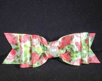 Floral Ribbon Hair Bow