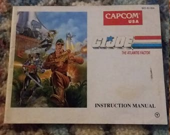GI Joe NES instruction manual