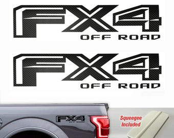 Ford FX4 F150 Off Road 2015 2016 2017 Decals Sticker Black Carbon Black Fiber 3M 1b