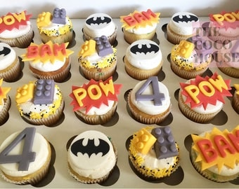 Batman Lego Cupcake Toppers