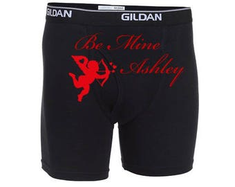 personalized be mine men valentines day boxer briefs