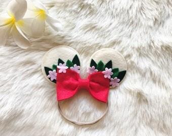 Moana inspired ears baby headband