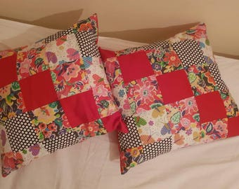 Set of Two Patchwork Cushions