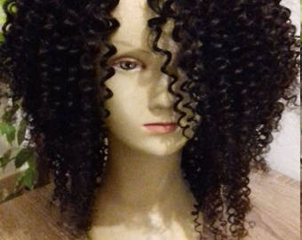 Curly brazilian wig human hair wig